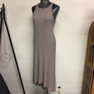 Rachel Pally Striped HiLo Maxi Dress